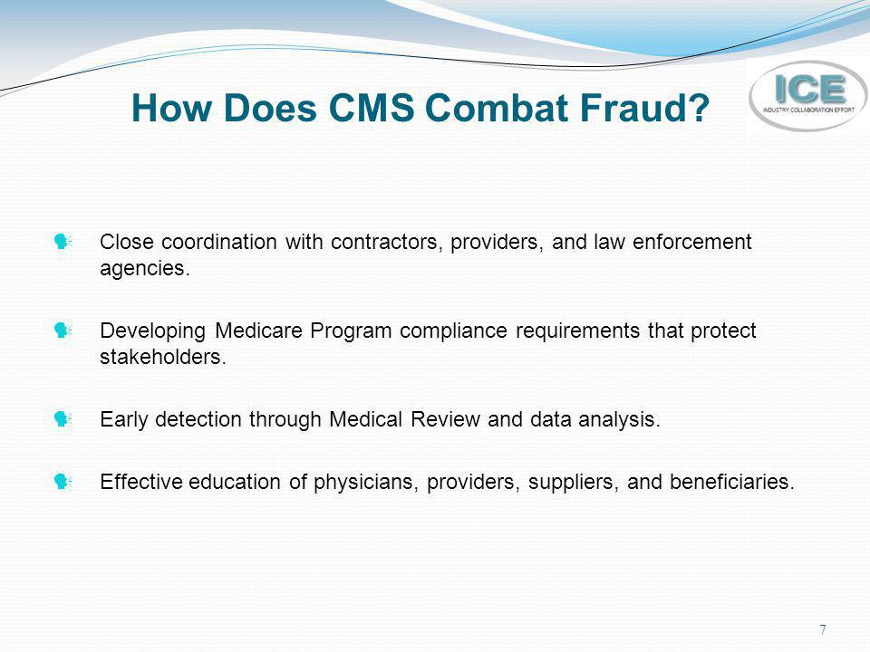 How Does CMS Combat Fraud