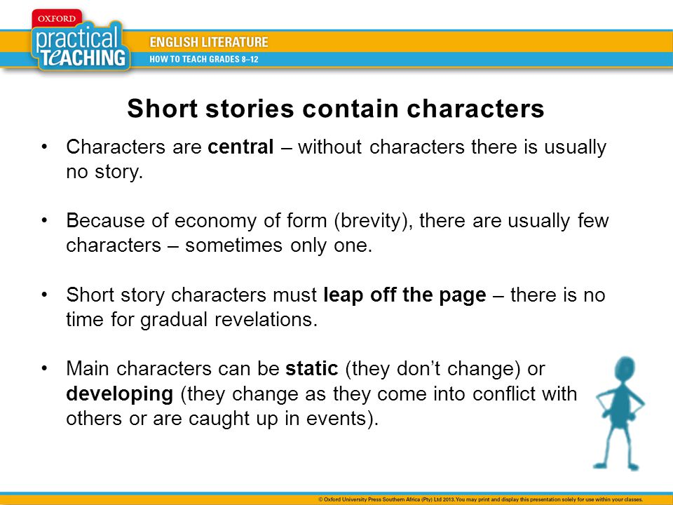 Short stories contain characters