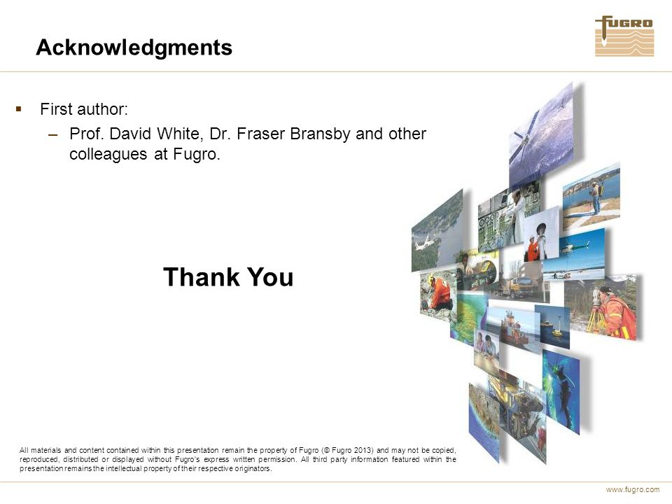 Thank You Acknowledgments First author: