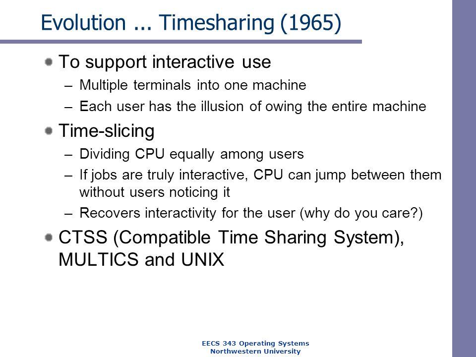 Evolution ... Timesharing (1965)