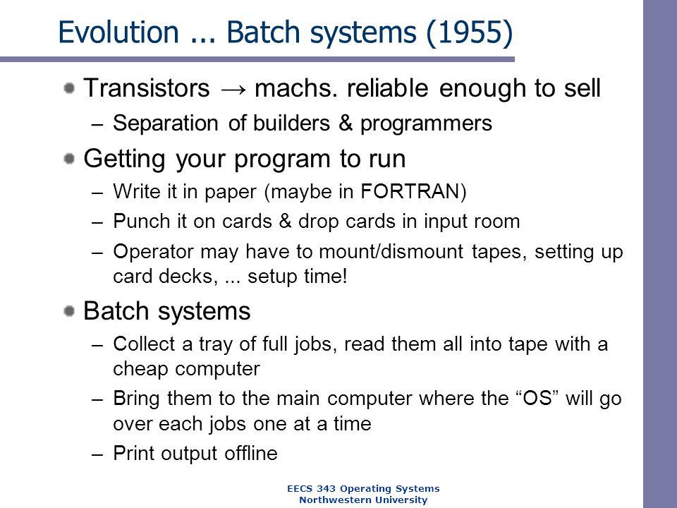 Evolution ... Batch systems (1955)