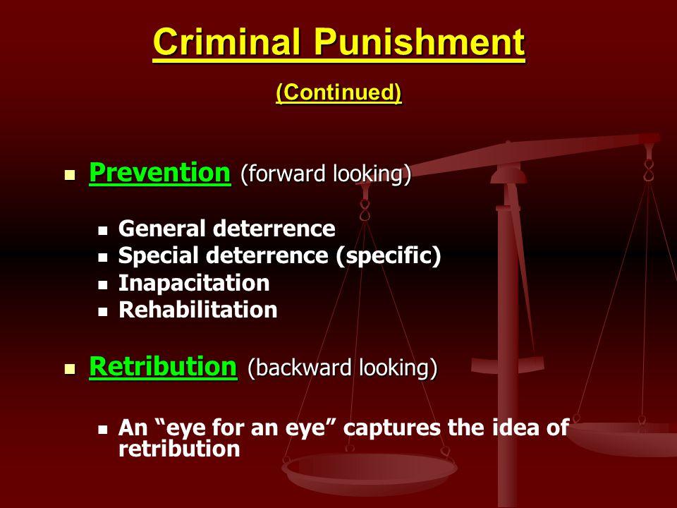 Criminal Punishment (Continued)