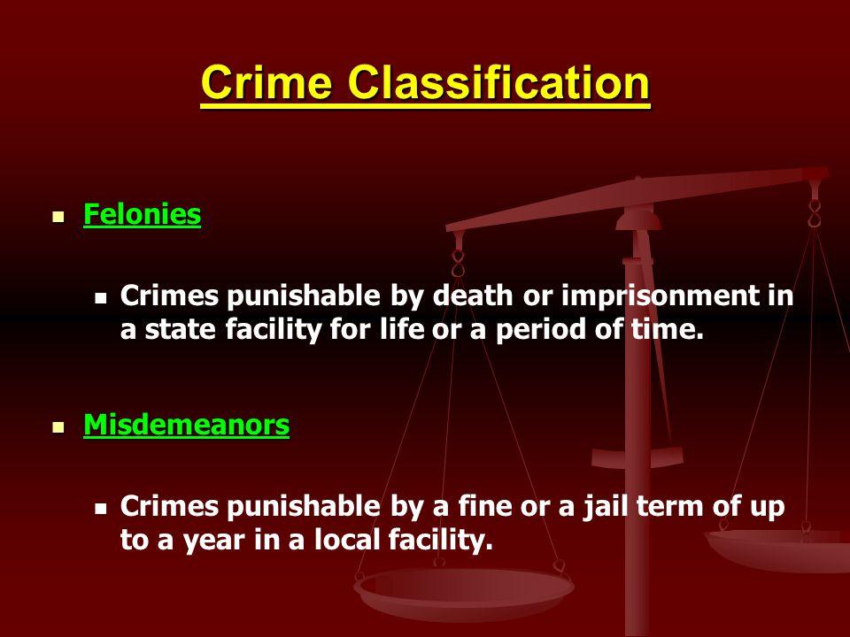 Crime Classification Felonies