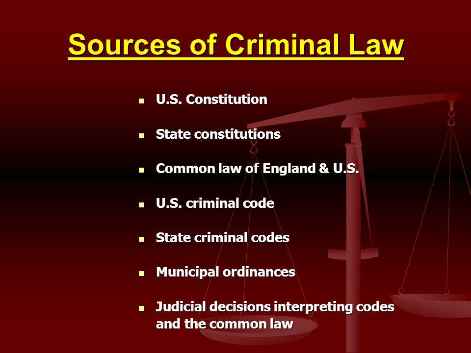 Sources of Criminal Law