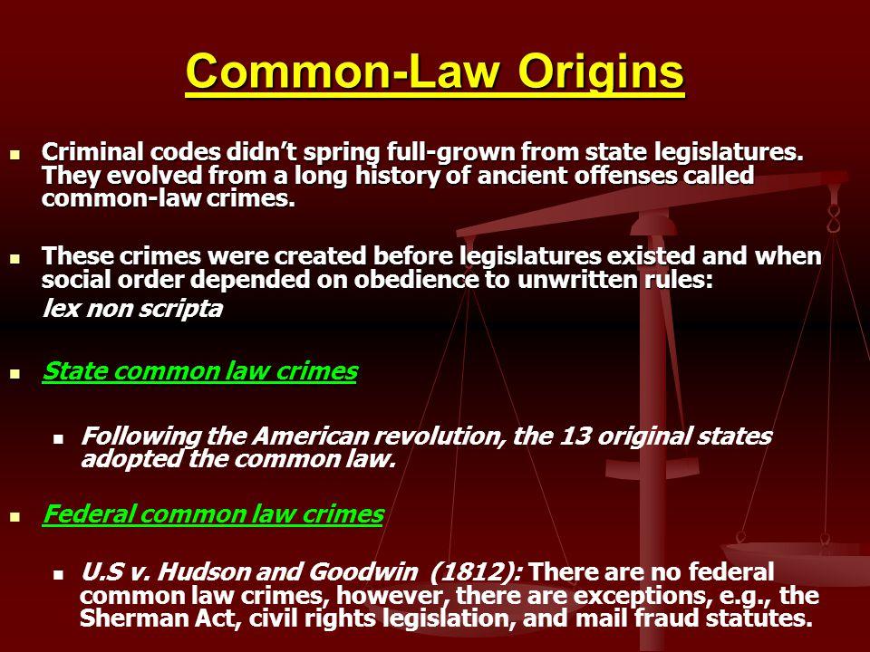 Common-Law Origins