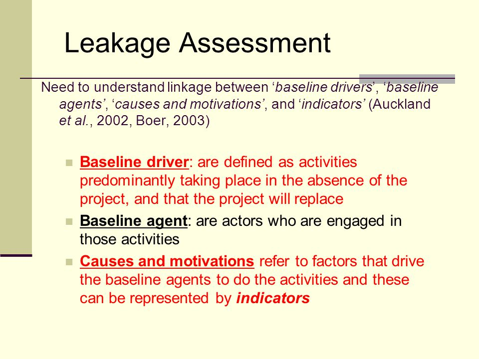 Leakage Assessment
