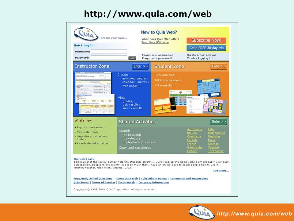 http://www.quia.com/web