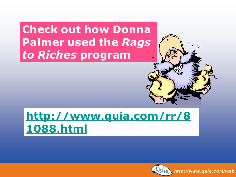 Check out how Donna Palmer used the Rags to Riches program