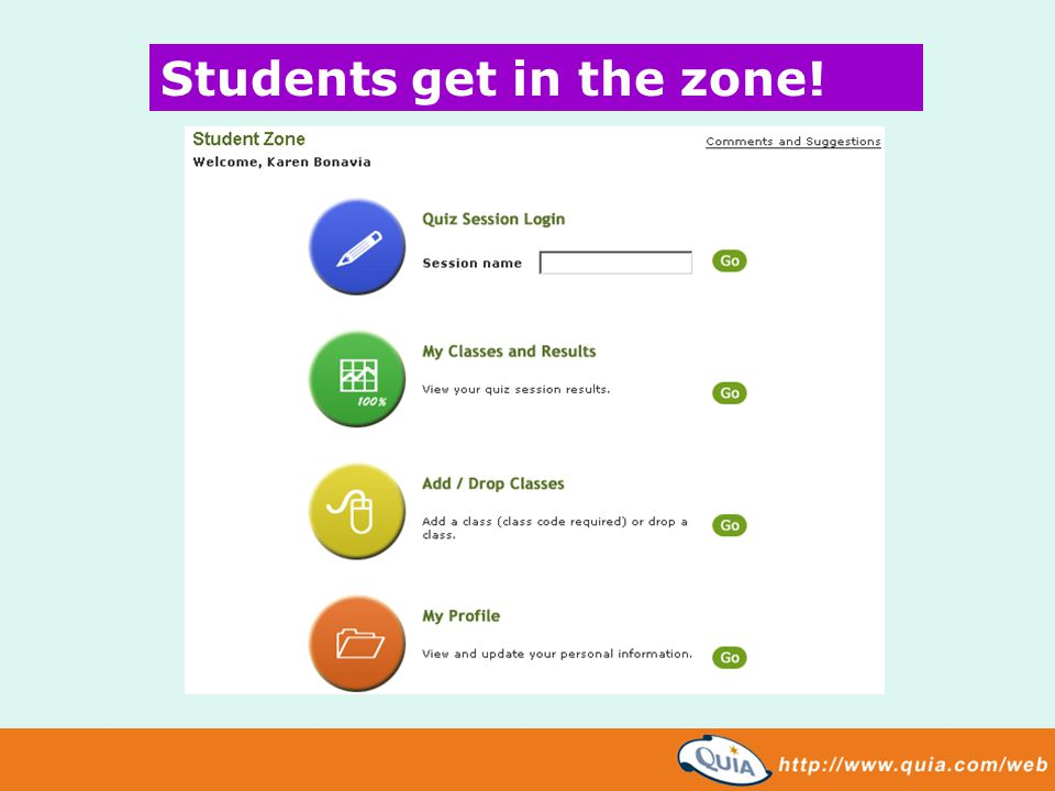 Students get in the zone!