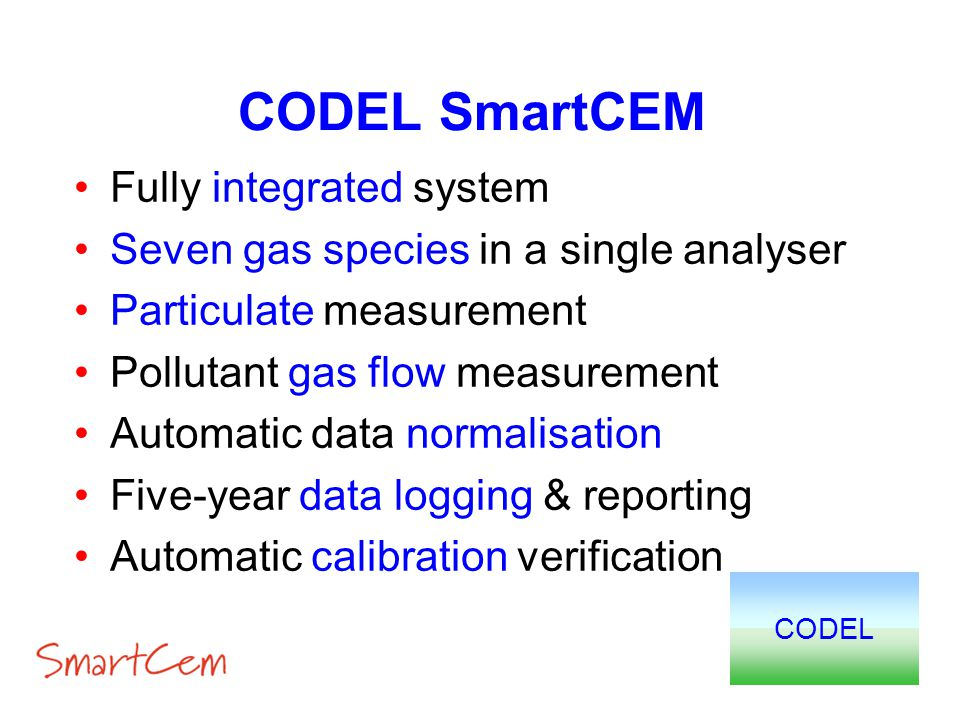 CODEL SmartCEM Fully integrated system