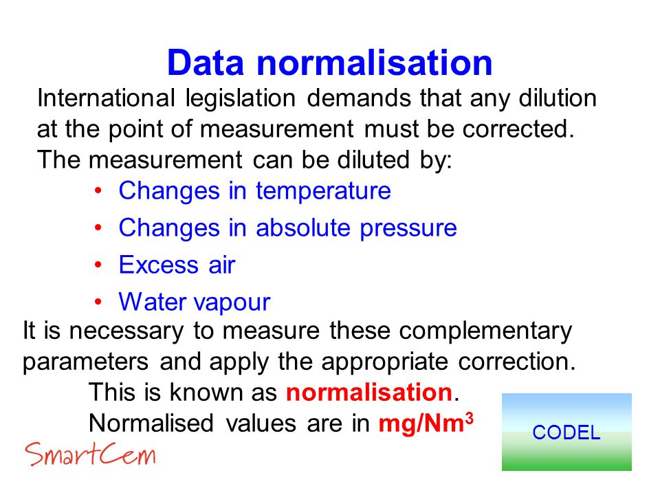 Data normalisation