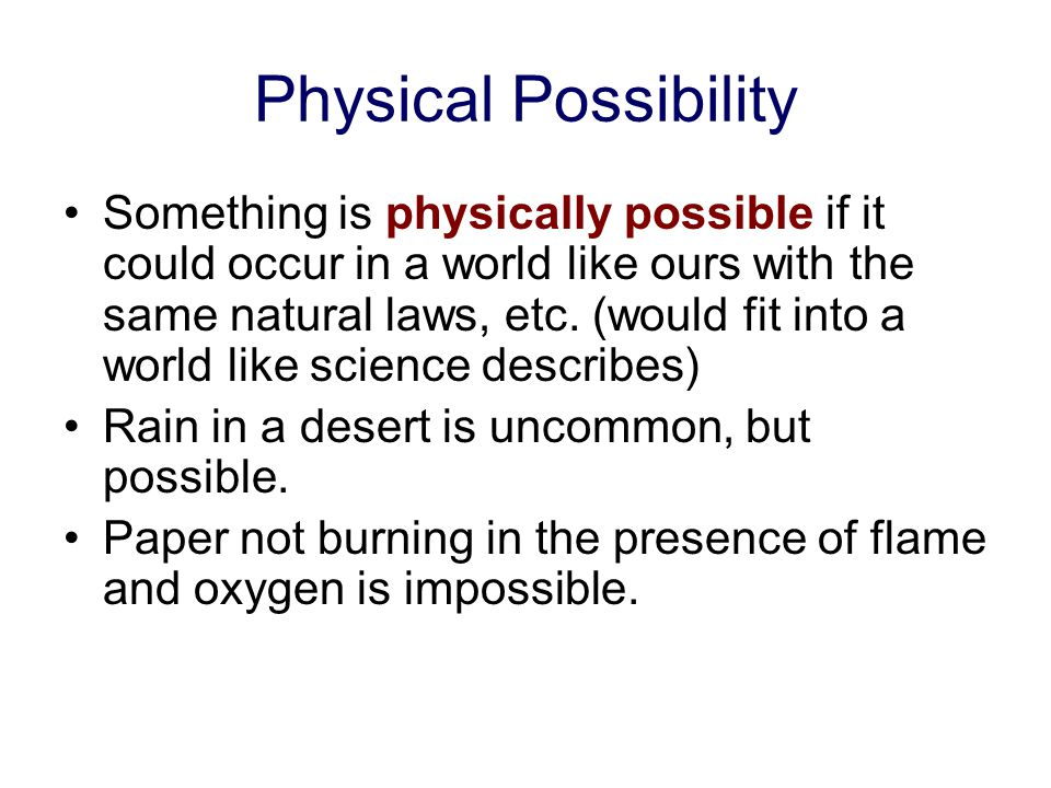 Physical Possibility