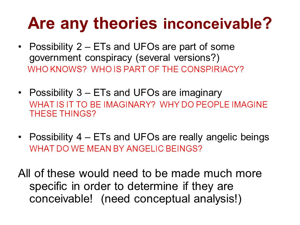 Are any theories inconceivable