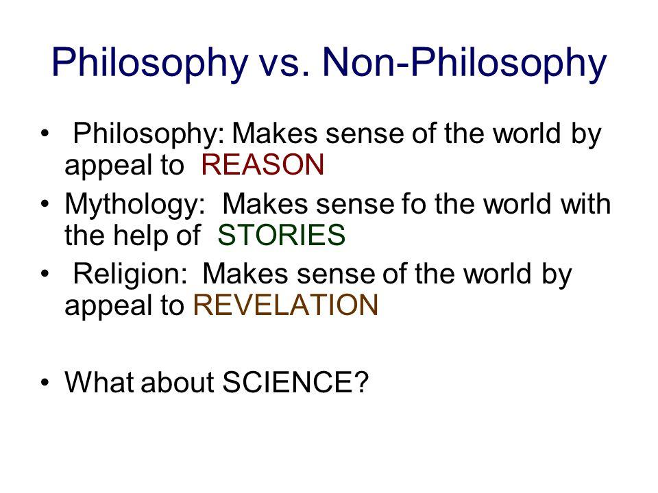 Philosophy vs. Non-Philosophy