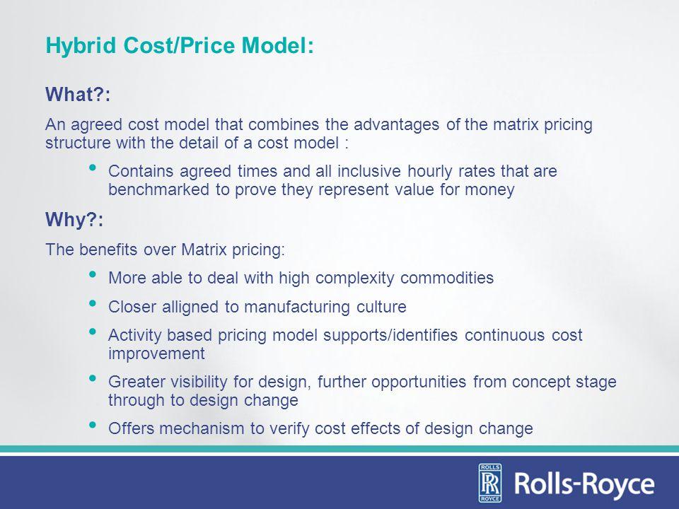 Hybrid Cost/Price Model: