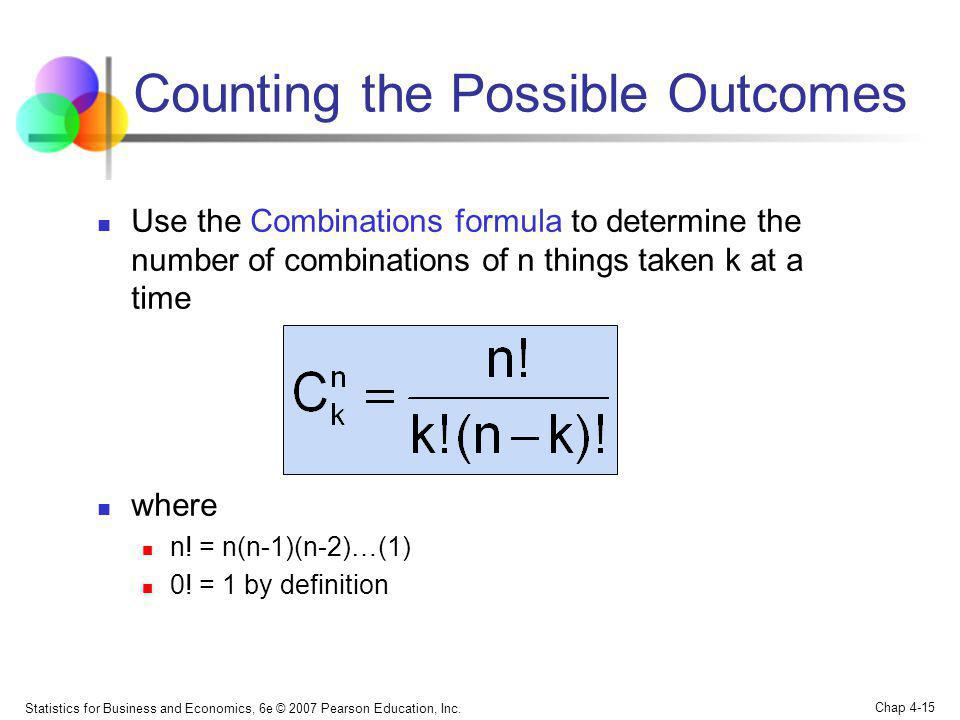 Counting the Possible Outcomes