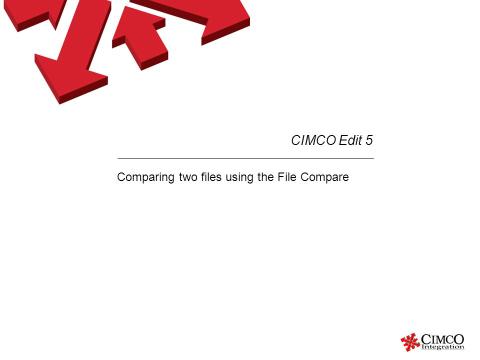 Comparing two files using the File Compare