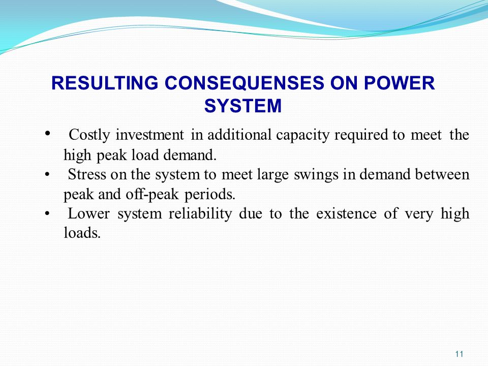 RESULTING CONSEQUENSES ON POWER SYSTEM