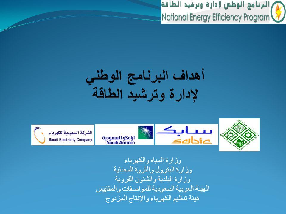أهداف البرنامج الوطني لإدارة وترشيد الطاقة