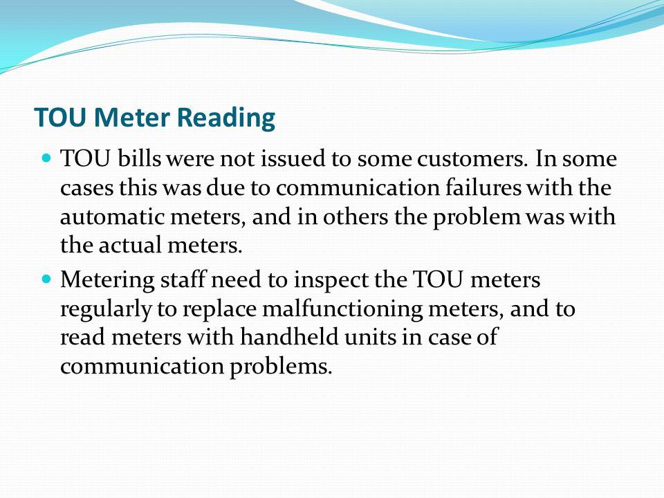 TOU Meter Reading