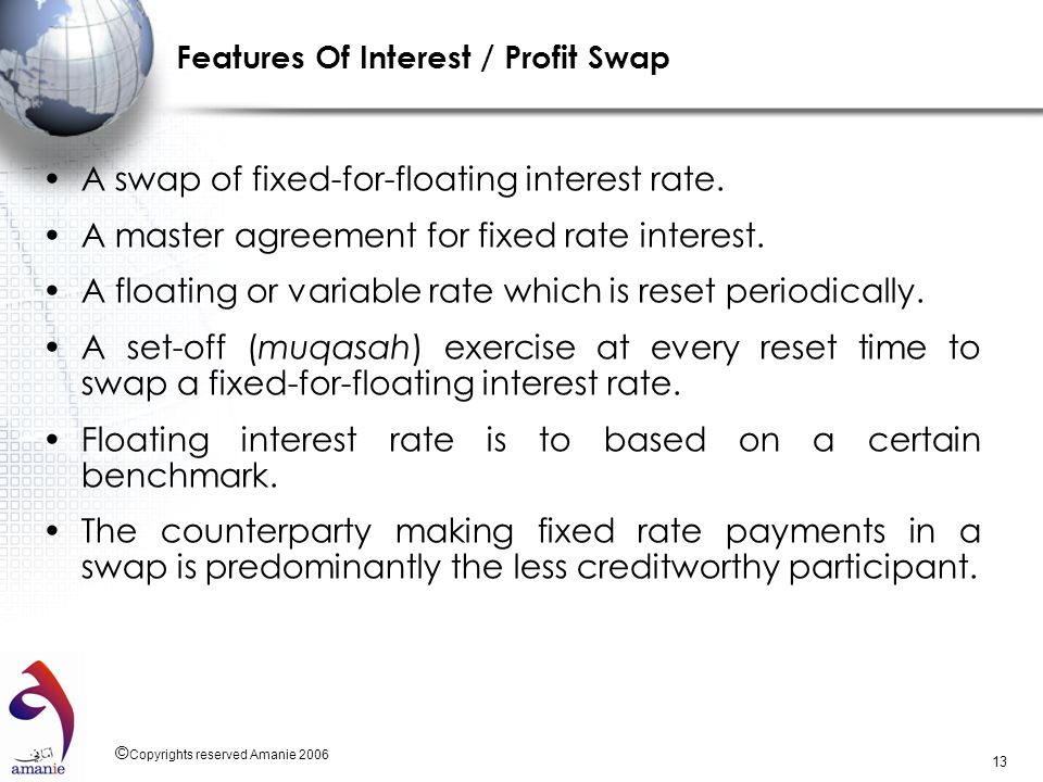 Features Of Interest / Profit Swap