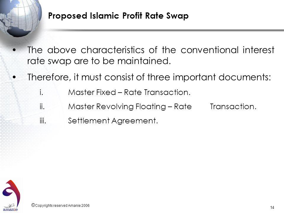 Proposed Islamic Profit Rate Swap