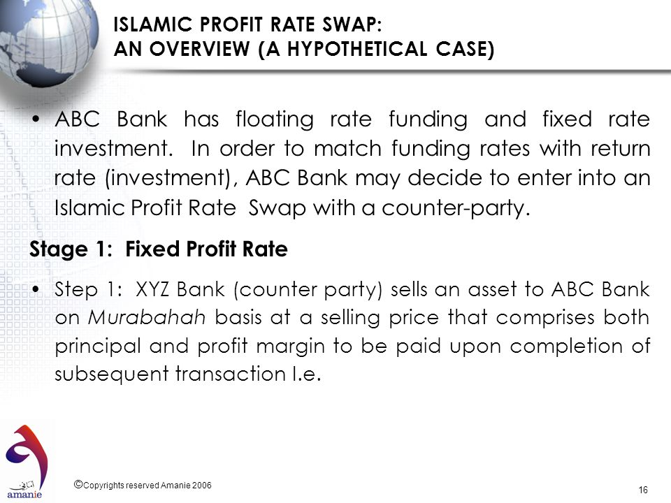 ISLAMIC PROFIT RATE SWAP: AN OVERVIEW (A HYPOTHETICAL CASE)
