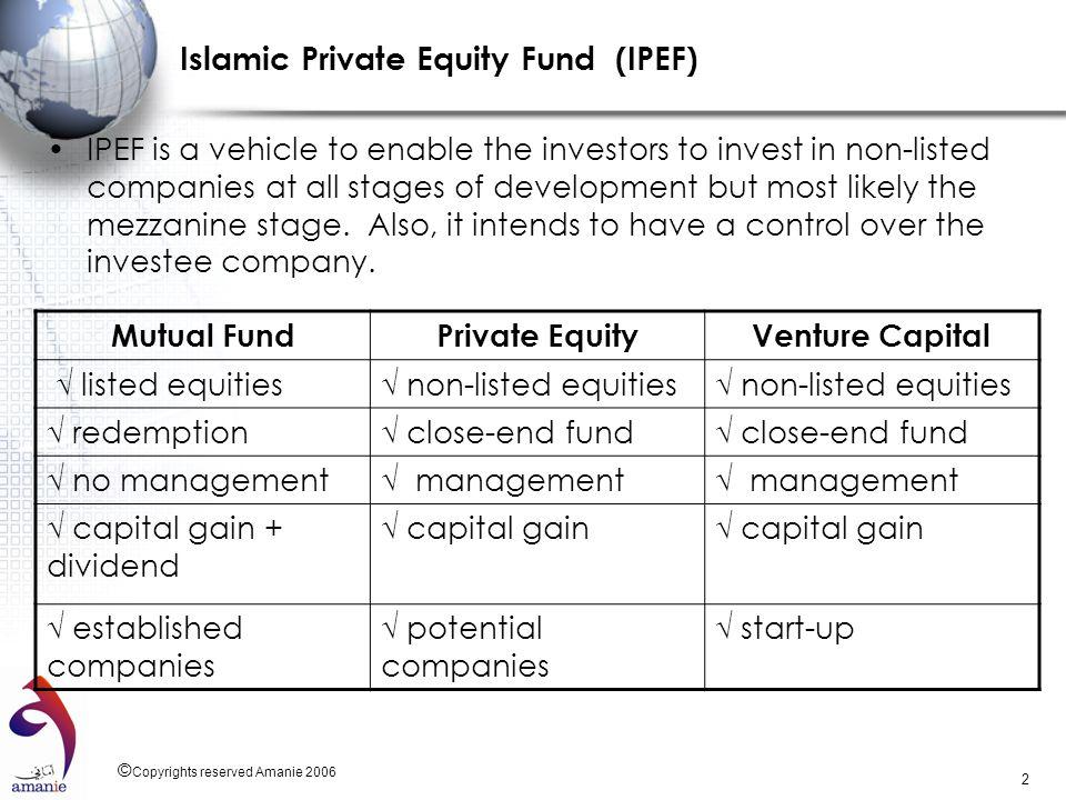 Islamic Private Equity Fund (IPEF)