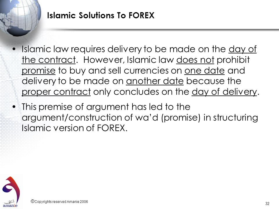 Islamic Solutions To FOREX