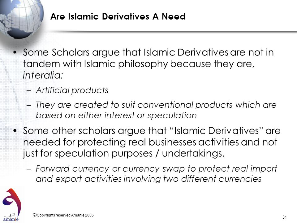 Are Islamic Derivatives A Need