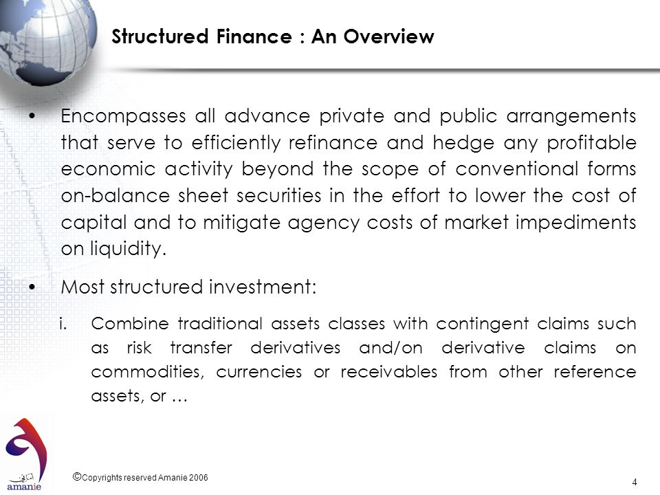 Structured Finance : An Overview