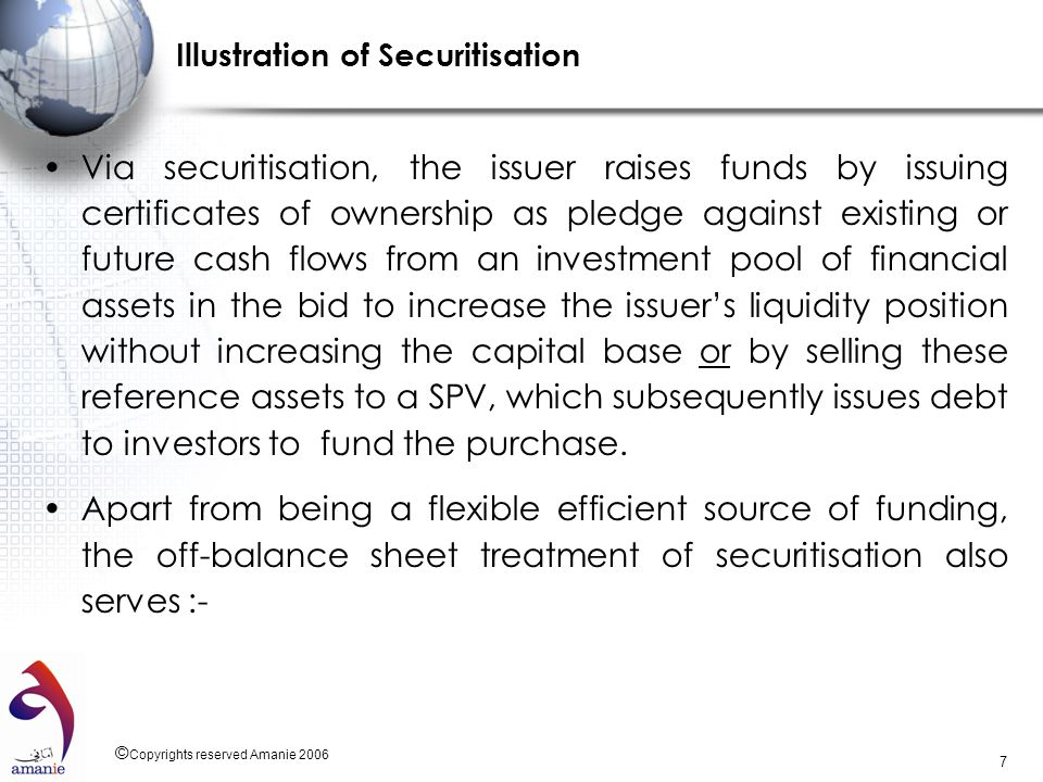 Illustration of Securitisation