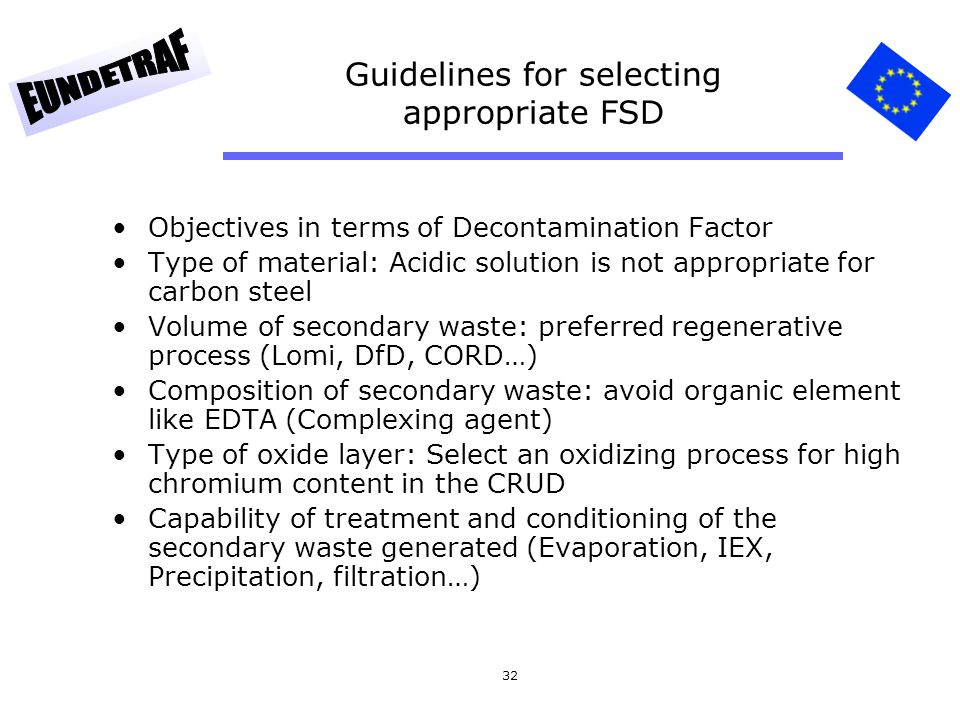 Guidelines for selecting appropriate FSD
