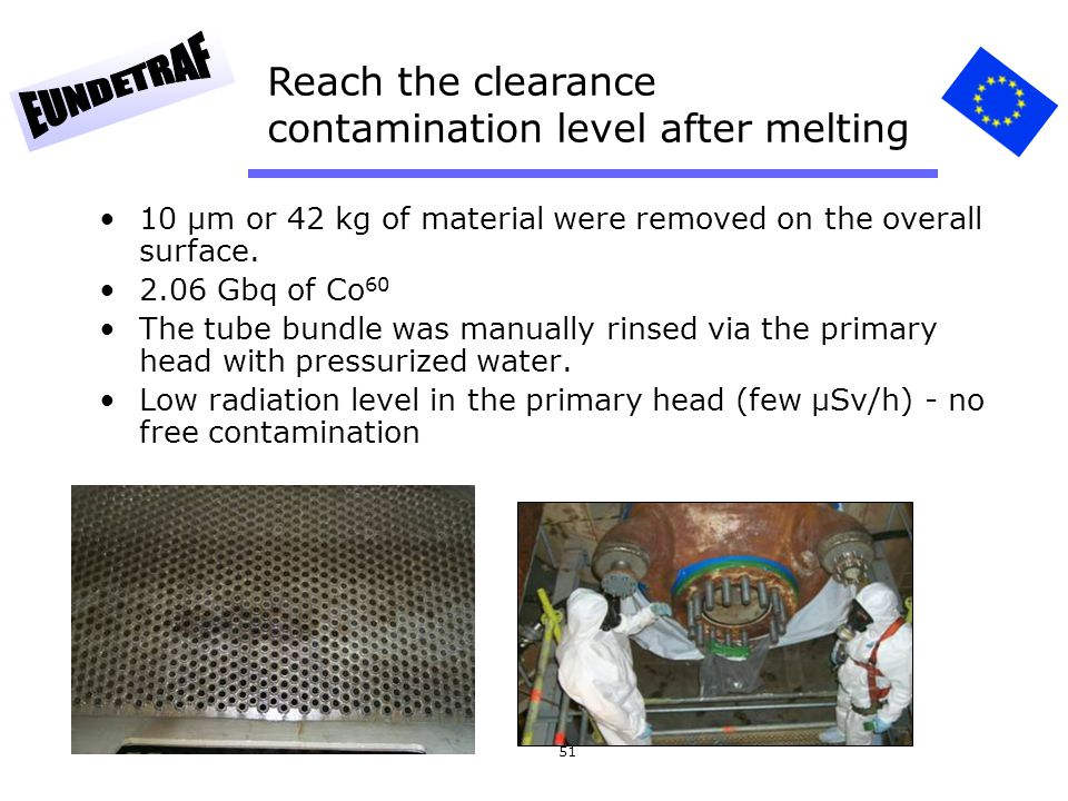 Reach the clearance contamination level after melting