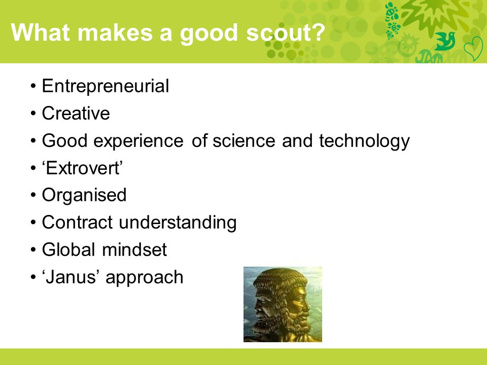 What makes a good scout Entrepreneurial Creative