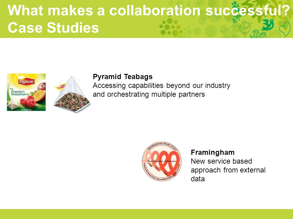 What makes a collaboration successful Case Studies