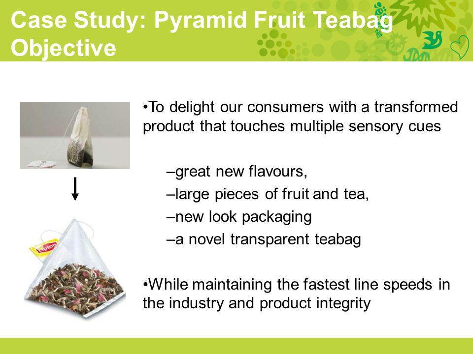 Case Study: Pyramid Fruit Teabag Objective