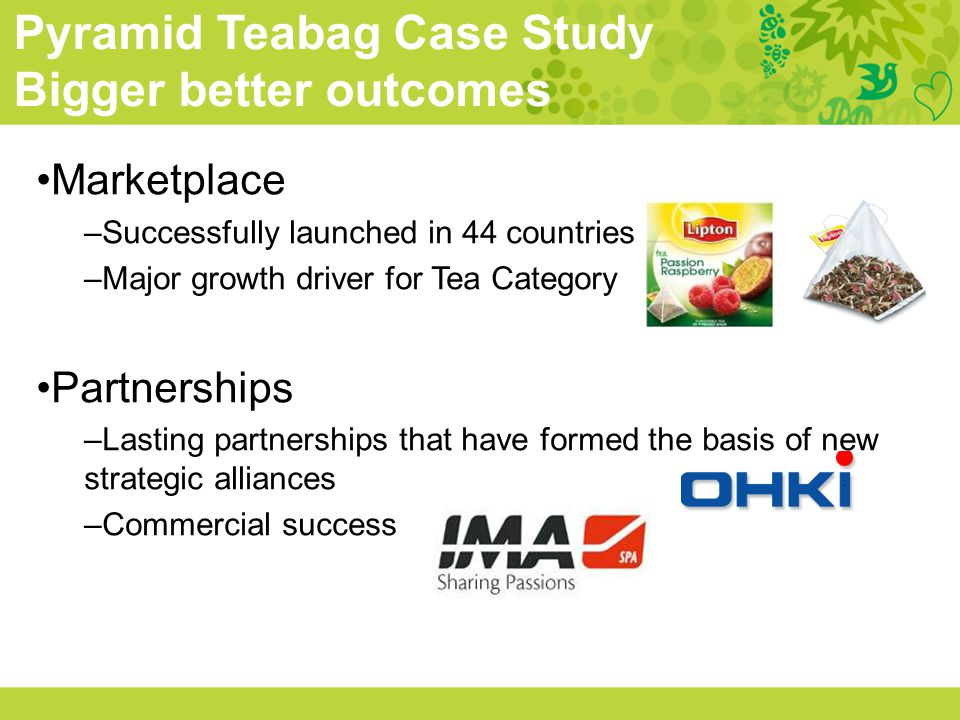 Pyramid Teabag Case Study Bigger better outcomes