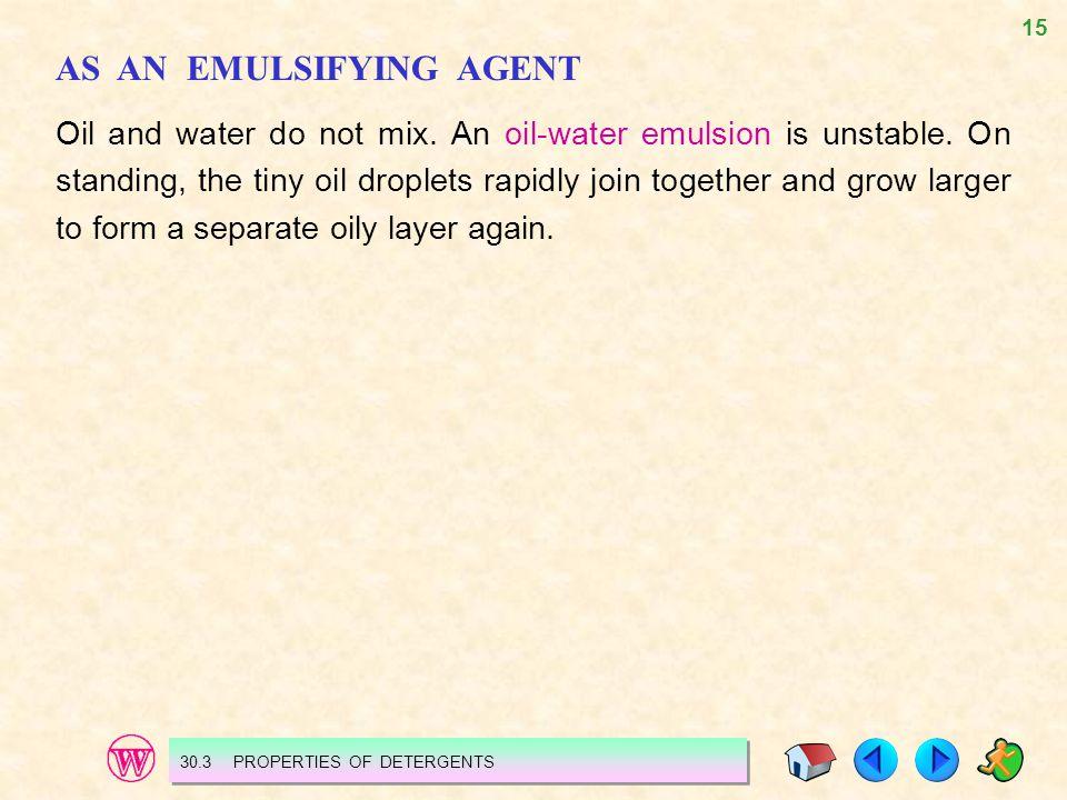 AS AN EMULSIFYING AGENT