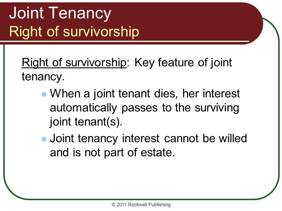 Joint Tenancy Right of survivorship