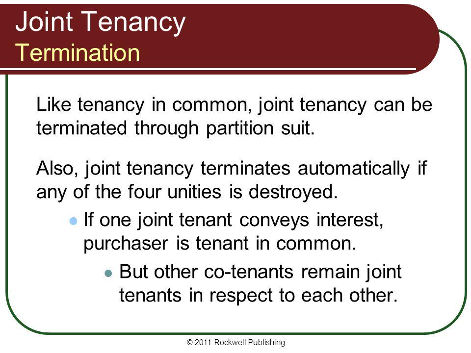 Joint Tenancy Termination