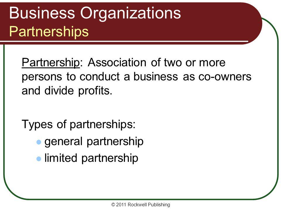 Business Organizations Partnerships