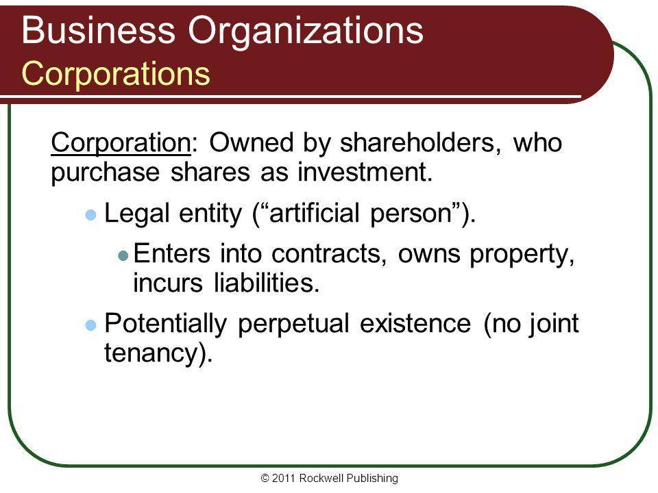Business Organizations Corporations