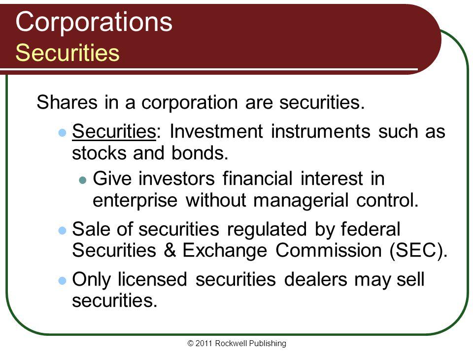 Corporations Securities
