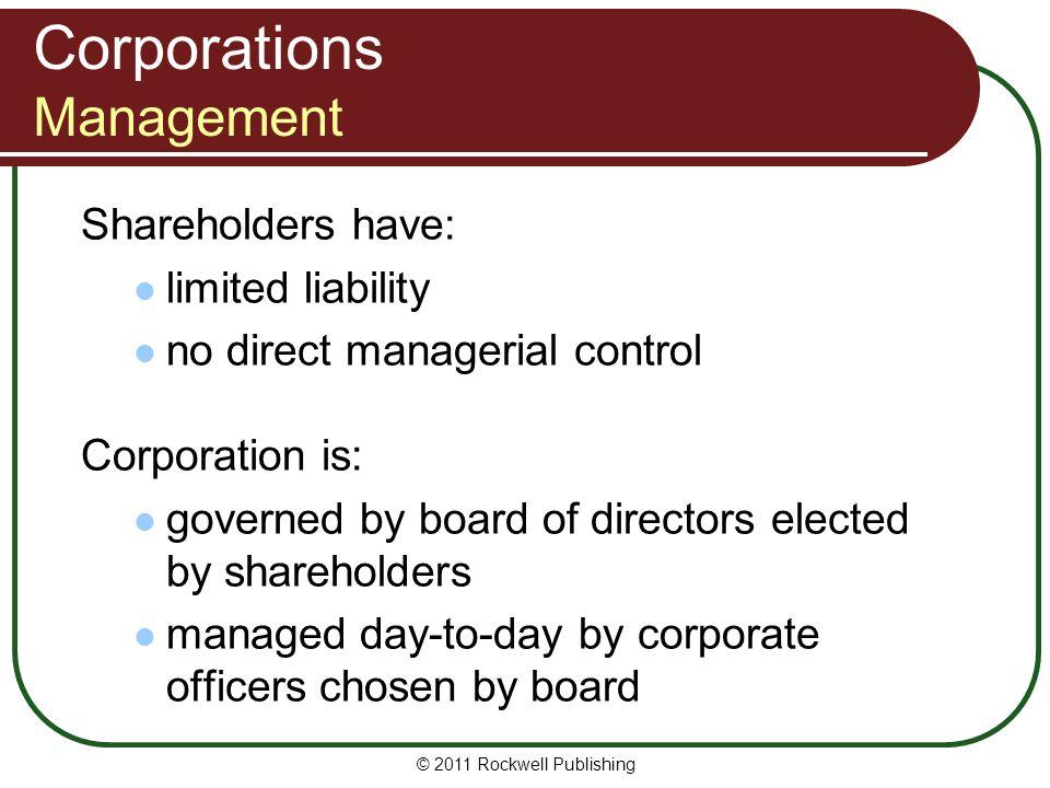 Corporations Management
