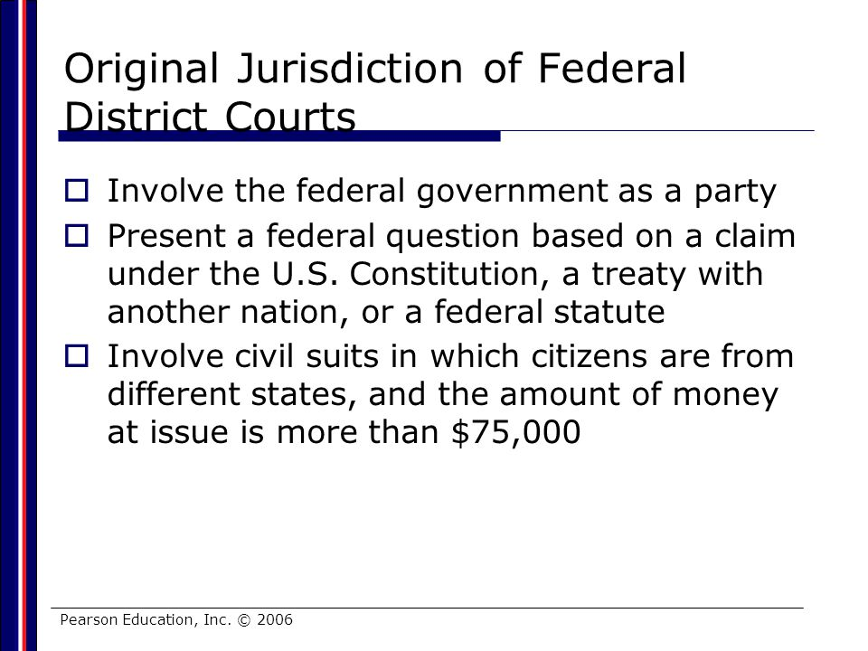 Original Jurisdiction of Federal District Courts