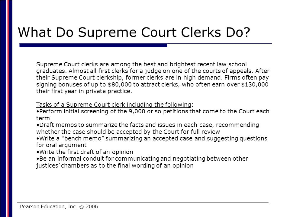 What Do Supreme Court Clerks Do