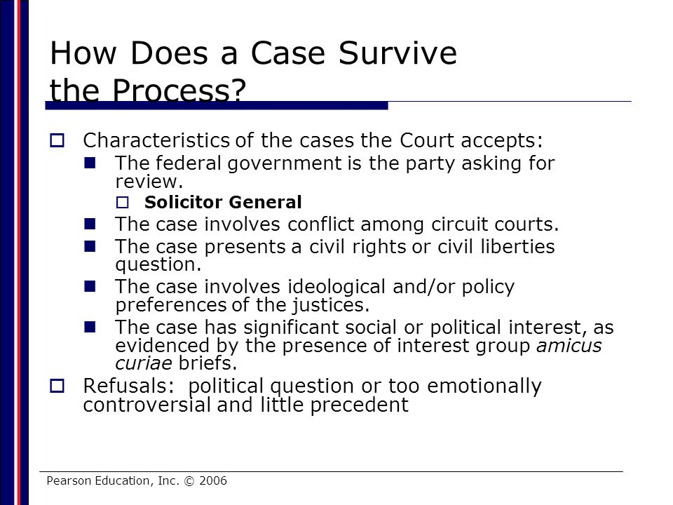 How Does a Case Survive the Process