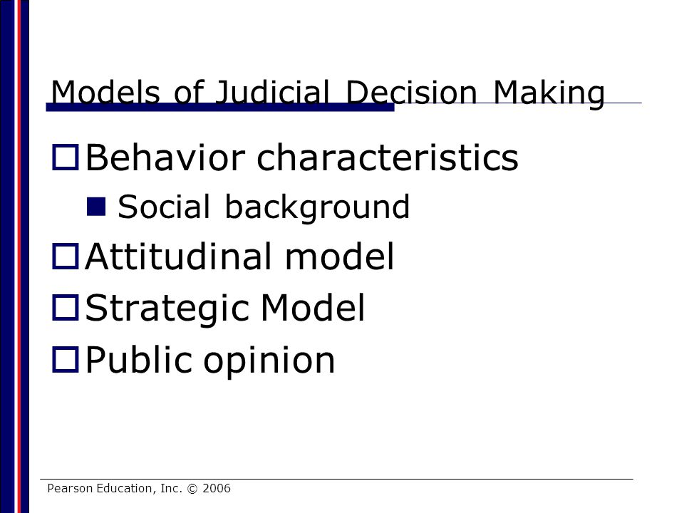 Models of Judicial Decision Making