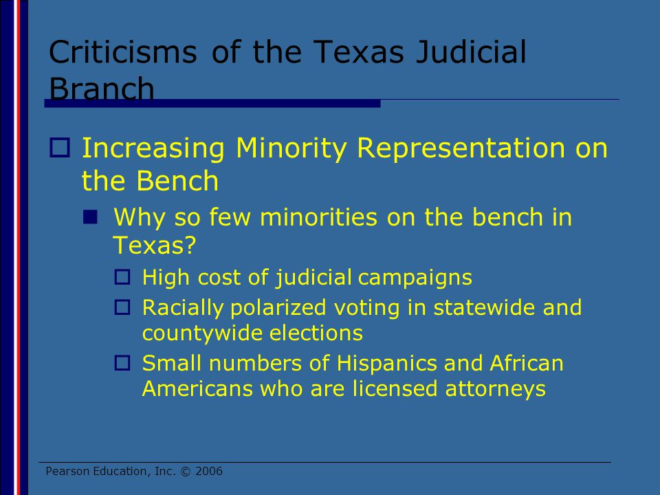 Criticisms of the Texas Judicial Branch